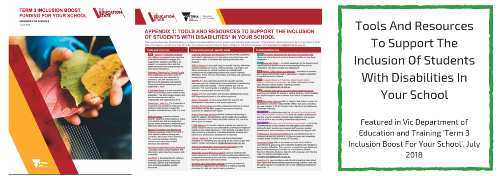 VIC Department of Education Inclusion Guidelines Image
